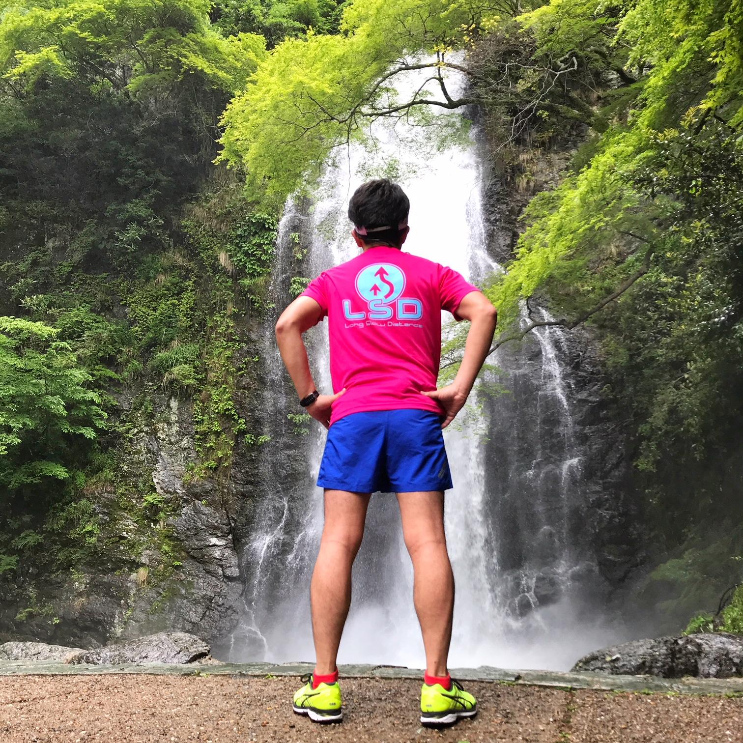 マイナスイオンに癒される箕面の滝。