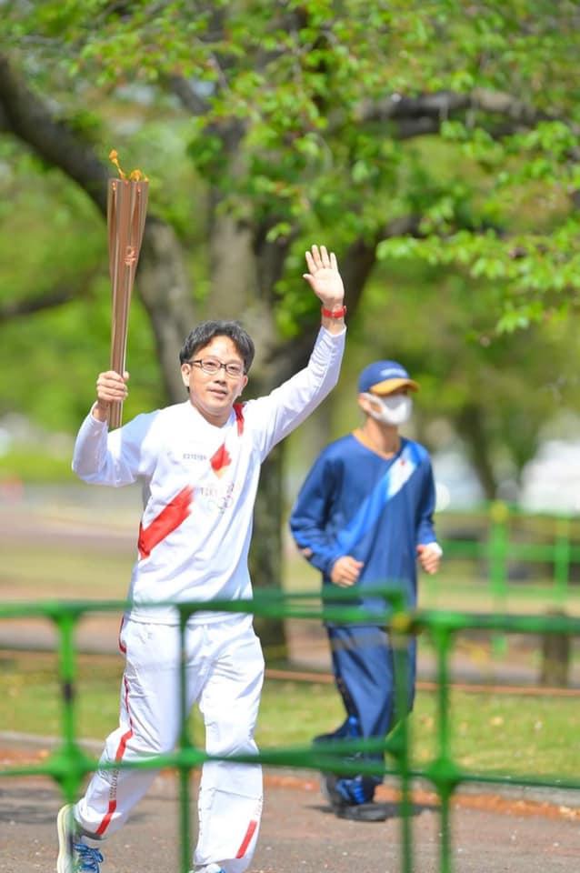 【東京2020オリンピック聖火リレーランナーとして池田市のちいさな眼鏡屋店主が走る】【当日】